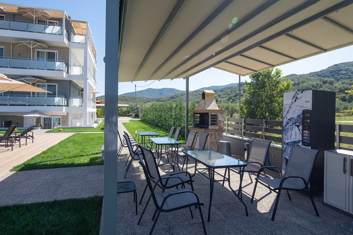 Barbecue facilities at Astra Sarti Luxury Suites