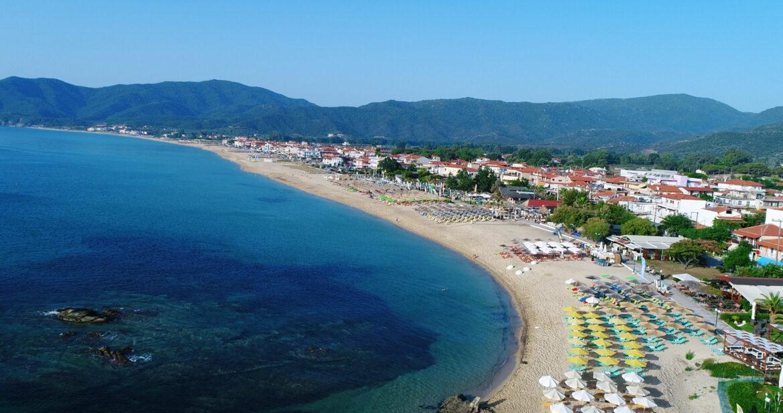 5 km long beach of Sarti Halkidiki