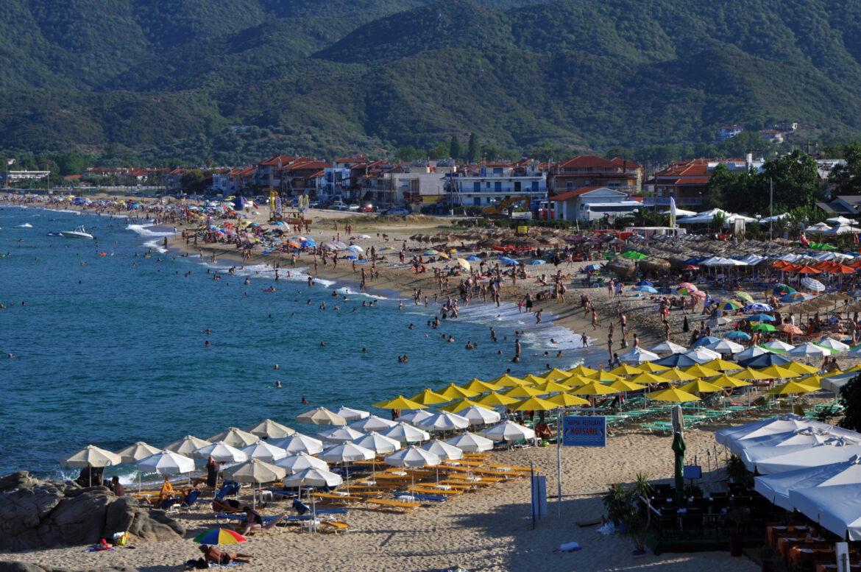 The beach of Sarti in Sithonia